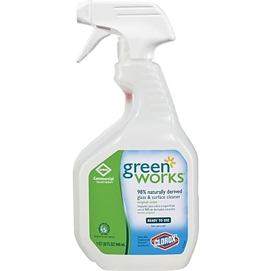 Clorox® Green Works Naturally Derived Glass and Surface Cleaner, 32 oz