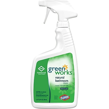 Clorox® Green Works Naturally Derived Bathroom Cleaner, Unscented, 24 oz