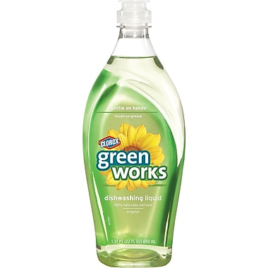 Clorox® Green Works Dishwashing Liquid, Original, 22 oz.