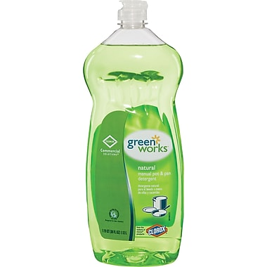 Clorox® Green Works Manual Pot & Pan Dishwashing Liquid, 38 oz.