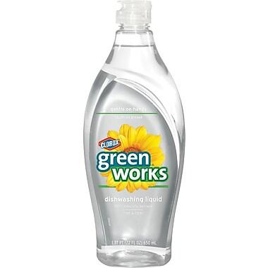 Clorox® Green Works® Dishwashing Liquid, Free And Clear, 22 oz.