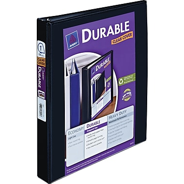 1in. Avery® Durable View Binder with Slant-D Rings, Black