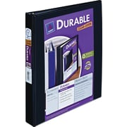 Avery Durable 1-Inch Slant D-Ring View Binder, Black (17011)