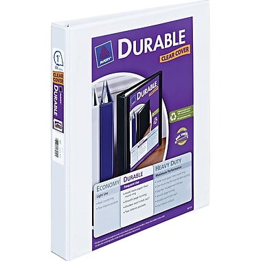 Avery Durable 1-Inch D-Ring View Binder, White (17006/17012)