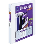 1 Avery® Durable View Binder with Slant-D, White