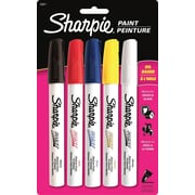 Sharpie Paint Oil Based Markers, Medium, Assorted, 5/Pack