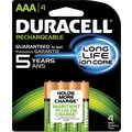 Duracell AAA Pre-Charged Rechargeable Batteries, 4/Pack