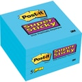 Post-it Super Sticky 3in.x 3in. Electric Blue, 5 Pads/Pack