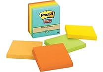 Post-it® Super Sticky 3' x 3' Recycled Farmers Market Notes, 5 Pads/Pack