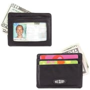 Big Skinny Nylon Microfiber Open-Sided Mini Skinny Card Case in Tuxedo Black