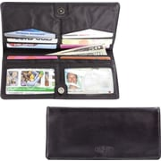 Big Skinny Leather Hybrid Executive Wallet in Tuxedo Black