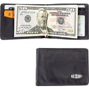 Big Skinny Nylon Microfiber Acrobat Money Clip Bifold in Tuxedo Black