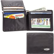 Big Skinny Nylon Microfiber L-Fold Wallet in Tuxedo Black