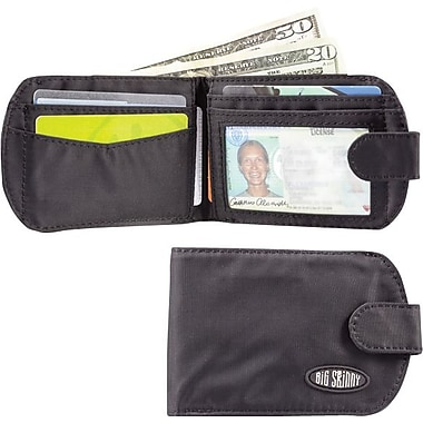 Big Skinny Nylon Microfiber Taxicat Bifold in Tuxedo Black