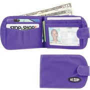Big Skinny Nylon Microfiber Taxicat Bifold in Electric Purple