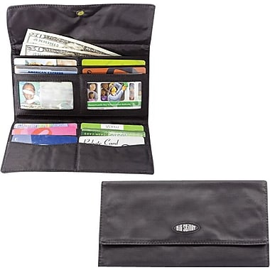 Big Skinny Nylon Microfiber Monte Cougar Checkbook Wallet in Tuxedo Black