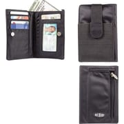 Big Skinny Nylon Microfiber myPhone Wallet in Tuxedo Black