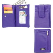Big Skinny Nylon Microfiber myPhone Wallet in Electric Purple