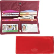 Big Skinny Leather Hybrid Executive Wallet in Cocktail Red