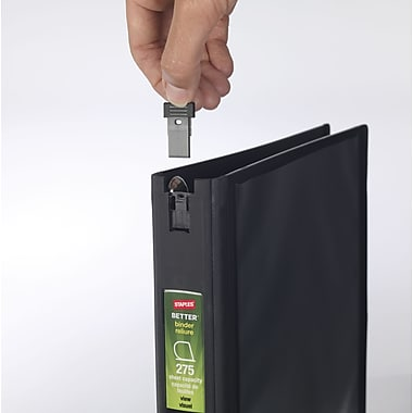 Staples Better 1-Inch D-Ring Binder with 4GB Flash Drive, Black (42449)