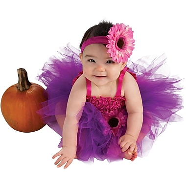 Rubie's Baby Onesies, Pink & Purple Flower Tutu Dress Costume, Infant, 6 to 12 months