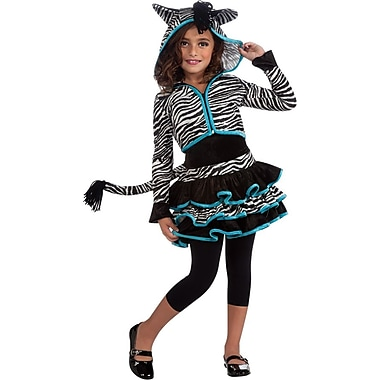 Zebra Hoodie Child Costume, Large