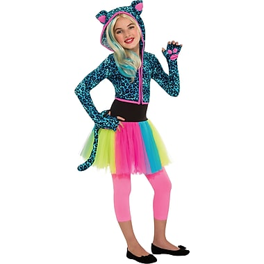 Neon Leopard Hoodie Child Costume, Small