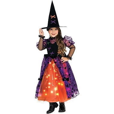 Let's Pretend, Sparkling Witch Child Costume, Medium