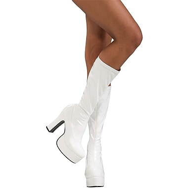 Secret Wishes Sleek White Boots Costume Accessory