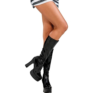 Secret Wishes Sleek Black Boots Costume Accessory, Small