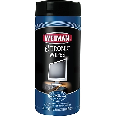 Weiman® Electronic Wipes, 30 Wipes/Tub