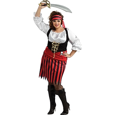 Costumes de luxe pour adultes, fille pirate, grande taille
