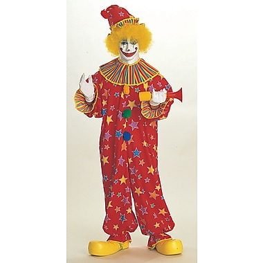 Deluxe Adult Costumes, Starburst Clown, Standard Size