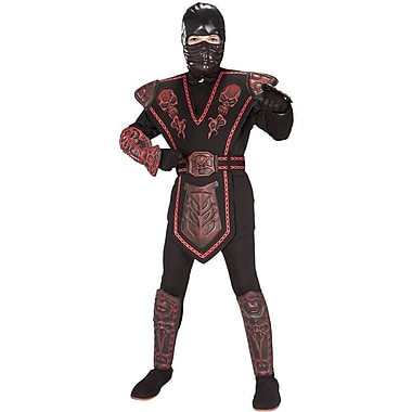 Dragon - Costume de guerrier Ninja au crâne rouge pour enfant, grand