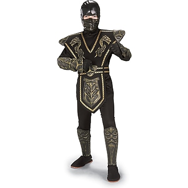Dragon - Costume de guerrier Ninja dragon d'or pour enfant, moyen