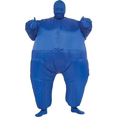 Funhouse Blue Infl8s Inflatable Jumpsuit, Standard Adult Size