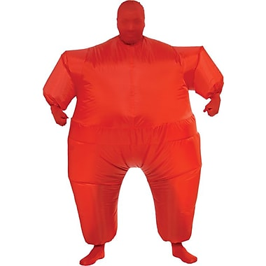 Funhouse Red Infl8s Inflatable Jumpsuit Costume, Standard Adult Size
