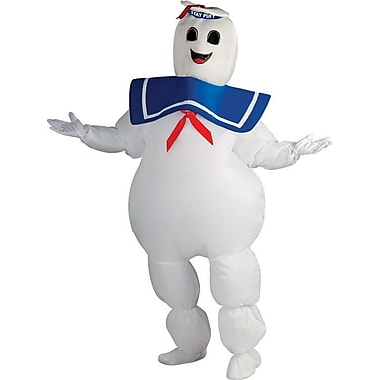 Funhouse Ghostbusters, Stay Puft Marshmallow Man Inflatable Jumpsuit Costume, Standard Adult Size