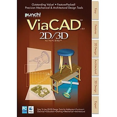 Encore Punch! ViaCAD 2D/3D v8 for Mac (1 User) [Download]