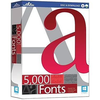 Summitsoft 5000 Fonts for Windows (1 User) [Download]