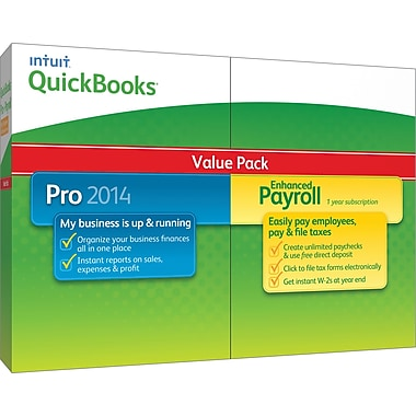 QuickBooks Pro with Enhanced Payroll 2014 for Windows (1 User) [Boxed]