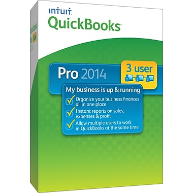 QuickBooks Pro 2014 3-User for Windows (1-3 User) [Boxed]