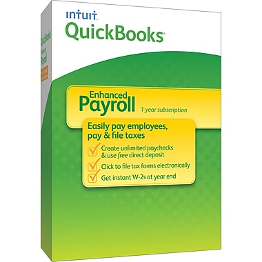 QuickBooks Payroll Enhanced 2014 for Windows (1 User) [Boxed]