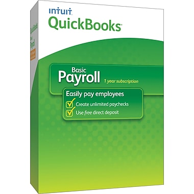 QuickBooks Payroll Basic 2014 for Windows (1 User) [Boxed]
