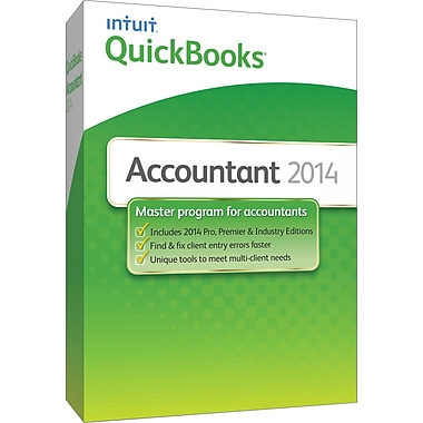 QuickBooks Accountant 2014 for Windows (1 User) [Boxed]