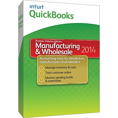 QuickBooks Premier Manufacturing & Wholesale 2014 for Windows (1-User) [Boxed]