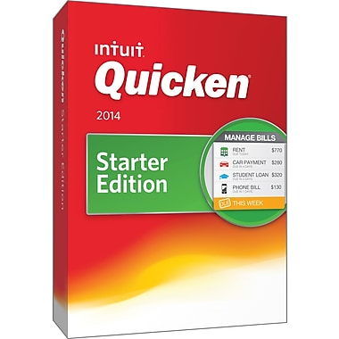 Quicken Starter Edition 2014 for Windows (1 User) [Boxed]