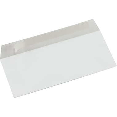 Staples® Envelopes White #10, 4 1/8 x 9 1/2, 50/Box - QuickStrip