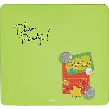 Quartet® Tin Square Magnetic Dry-Erase Board, Frameless, Green, 12in. x 12in.
