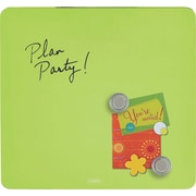 "Quartet® Tin Square Magnetic Dry-Erase Board, Frameless, Green, 12"" x 12"""